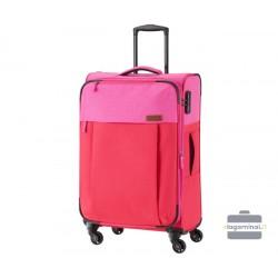 Vidutinis medžiaginis lagaminas Travelite Neopak V Raudonas