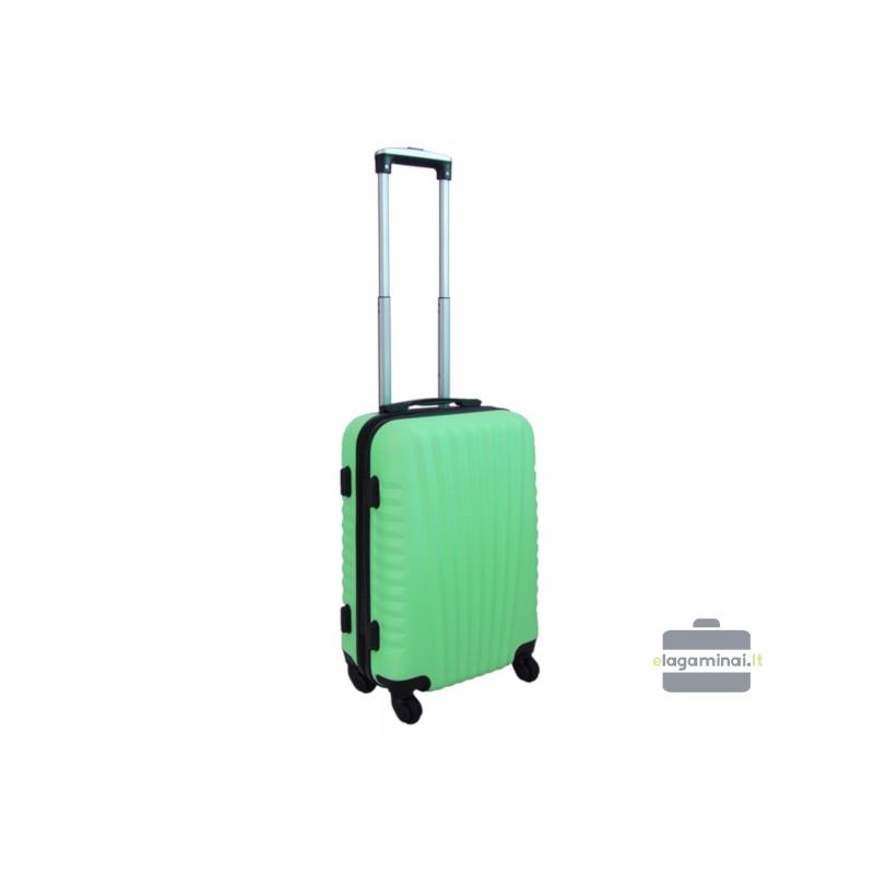Mažas plastikinis lagaminas Gravitt 888-M Šviesiai žalias