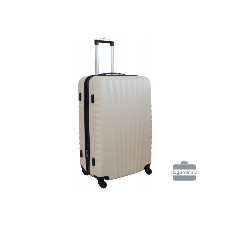 Vidutinis plastikinis lagaminas Gravitt 888-V Kreminė spalva