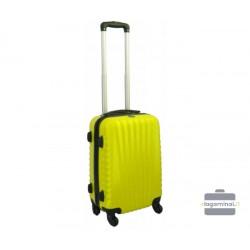 Mažas plastikinis lagaminas Gravitt 888-M Geltonas