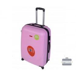 Didelis plastikinis lagaminas Gravitt 310-D Rožinis