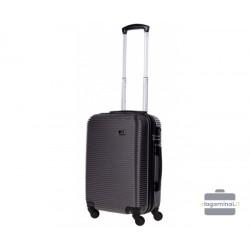 Mažas plastikinis lagaminas Bagia 8080-M Tamsiai pilkas