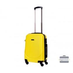 Mažas plastikinis lagaminas Bagia 8091-M Geltonas