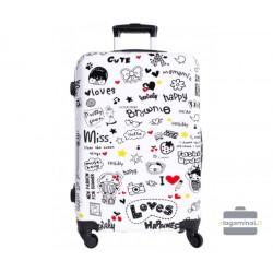 Mažas plastikinis lagaminas Bagia BL 07-M