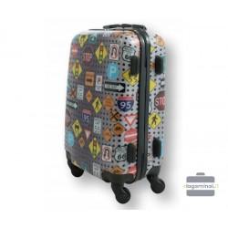 Mažas plastikinis lagaminas Bagia BL 09-M