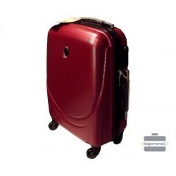 Mažas plastikinis lagaminas Gravitt 311-M Tamsiai raudonas