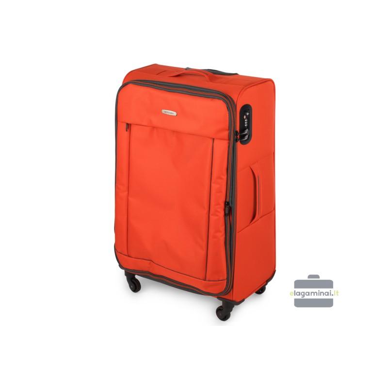 Didelis medžiaginis lagaminas Wittchen 56-3S-463 Oranžinis