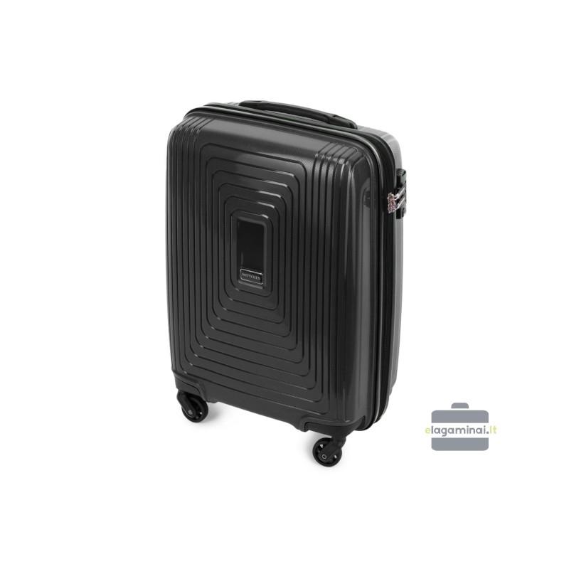 Mažas plastikinis lagaminas Wittchen 56-3T-781-M Juodas