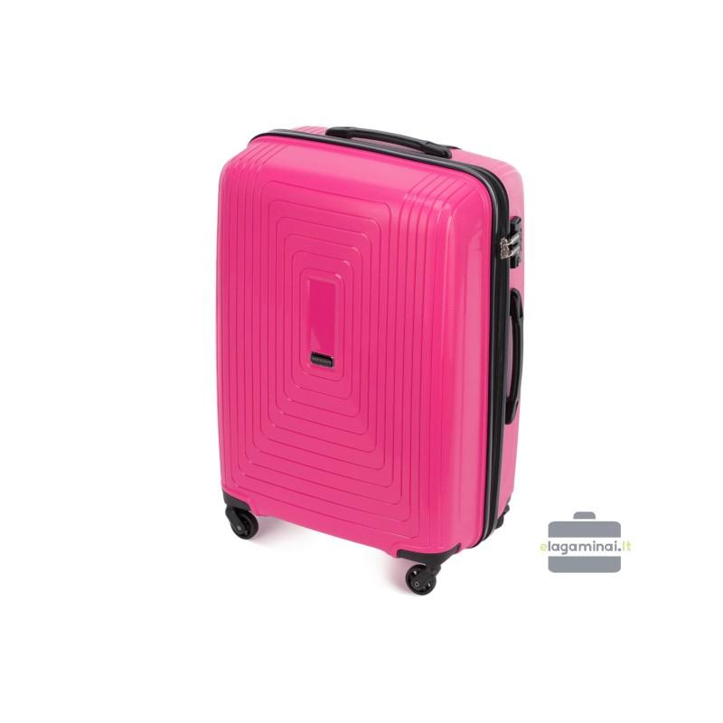 Vidutinis plastikinis lagaminas Wittchen 56-3T-782-V Rožinis