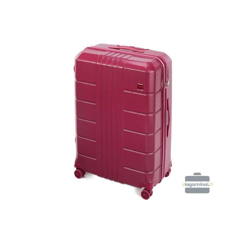 Didelis plastikinis lagaminas Wittchen 56-3P-823 Tamsiai raudonas