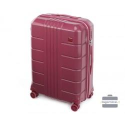 Vidutinis plastikinis lagaminas Wittchen 56-3P-822 Tamsiai raudonas
