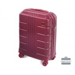 Mažas plastikinis lagaminas Wittchen 56-3P-821 Tamsiai raudonas