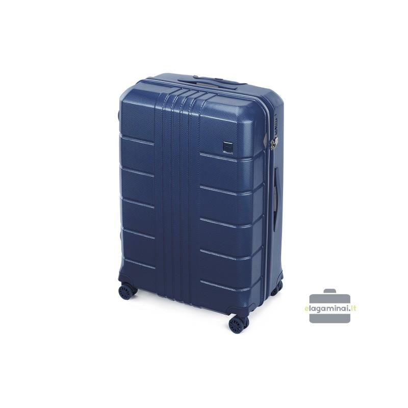 Didelis plastikinis lagaminas Wittchen 56-3P-823 Tamsiai mėlynas