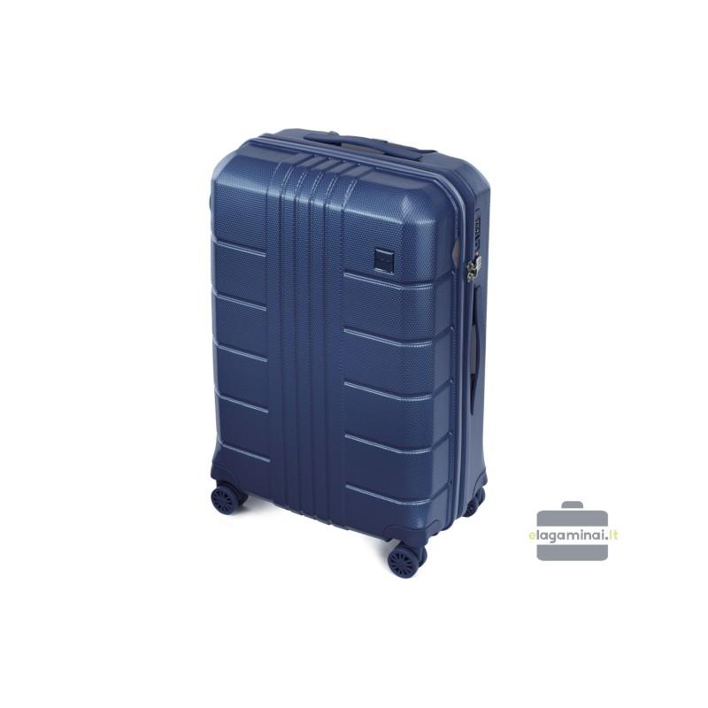 Vidutinis plastikinis lagaminas Wittchen 56-3P-822 Tamsiai mėlynas