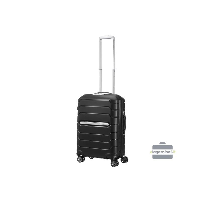 Mažas plastikinis lagaminas Samsonite Flux M Juodas