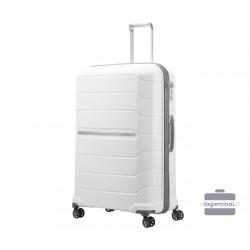 Labai didelis plastikinis lagaminas Samsonite Flux LD Baltas