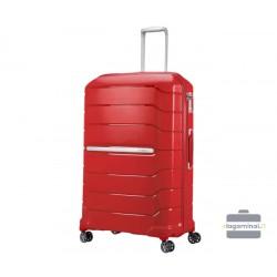 Labai didelis plastikinis lagaminas Samsonite Flux LD Raudonas