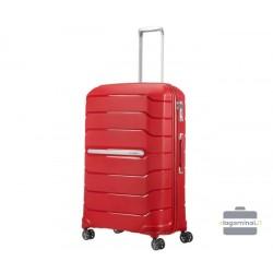 Didelis plastikinis lagaminas Samsonite Flux D Raudonas