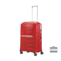 Vidutinis plastikinis lagaminas Samsonite Flux V Raudonas