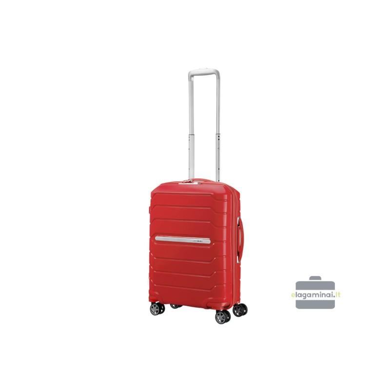 Mažas plastikinis lagaminas Samsonite Flux M Raudonas