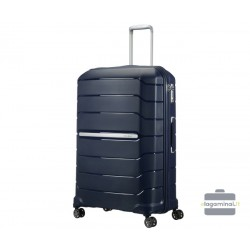 Labai didelis plastikinis lagaminas Samsonite Flux LD Tamsiai mėlynas