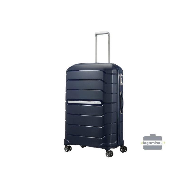 Didelis plastikinis lagaminas Samsonite Flux D Tamsiai mėlynas