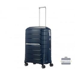 Vidutinis plastikinis lagaminas Samsonite Flux V Tamsiai mėlynas