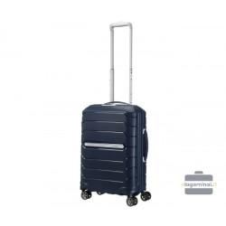Mažas plastikinis lagaminas Samsonite Flux M Tamsiai mėlynas