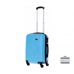 Mažas plastikinis lagaminas Bagia 8080-M Šviesiai mėlynas