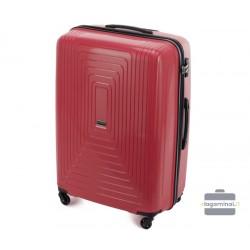 Didelis plastikinis lagaminas Wittchen 56-3T-783-D Tamsiai raudonas