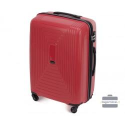 Vidutinis plastikinis lagaminas Wittchen 56-3T-782-V Tamsiai raudonas