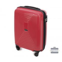 Mažas plastikinis lagaminas Wittchen 56-3T-781-M Tamsiai raudonas