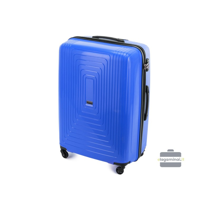 Didelis plastikinis lagaminas Wittchen 56-3T-783-D Mėlynas