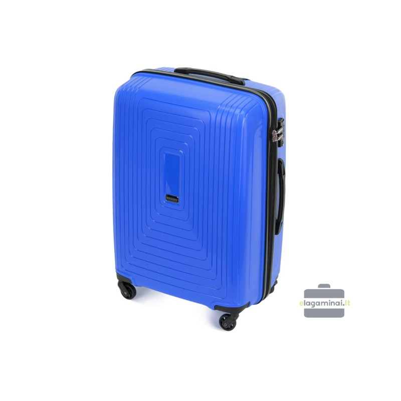 Vidutinis plastikinis lagaminas Wittchen 56-3T-782-V Mėlynas