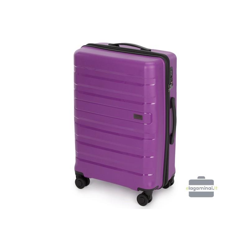 Vidutinis plastikinis lagaminas Wittchen 56-3T-752-V Violetinis