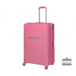 Didelis plastikinis lagaminas Burak PQ-D Rožinis
