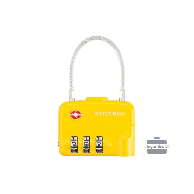Kodinė TSA spynelė lagaminui Wittchen 56-30-024 Geltona