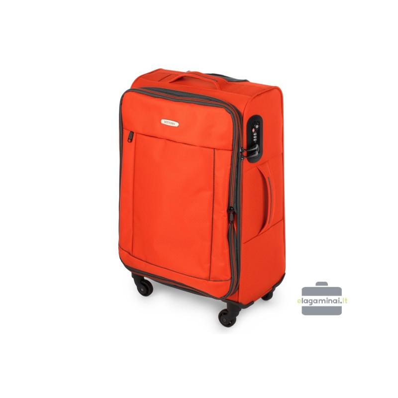 Vidutinis medžiaginis lagaminas Wittchen 56-3S-462 Oranžinis
