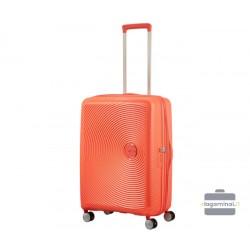 Vidutinis lagaminas American Tourister Soundbox V Oranžinis