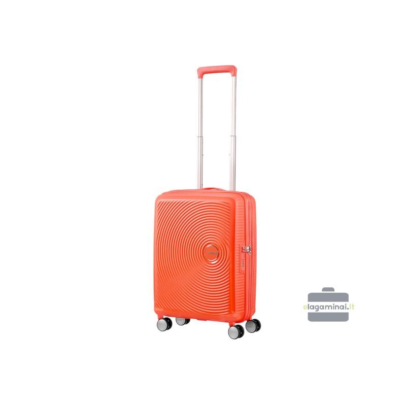 Mažas lagaminas American Tourister Soundbox M Oranžinis