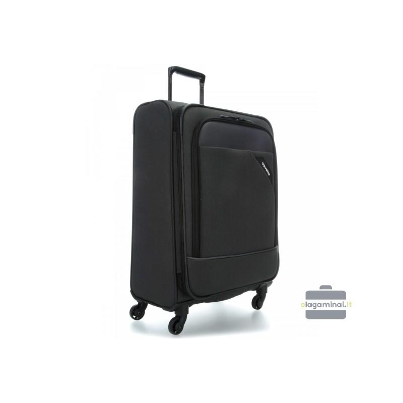 Didelis medžiaginis lagaminas Travelite Derby D Tamsiai pilkas