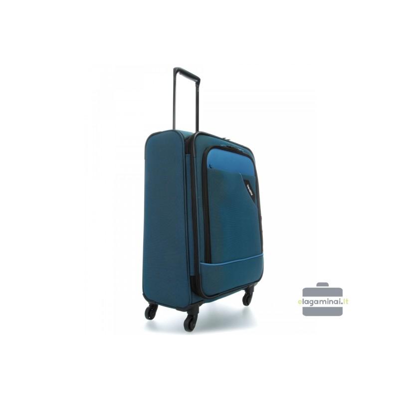 Vidutinis medžiaginis lagaminas Travelite Derby V Mėlynas
