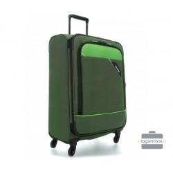 Didelis medžiaginis lagaminas Travelite Derby D Žalias