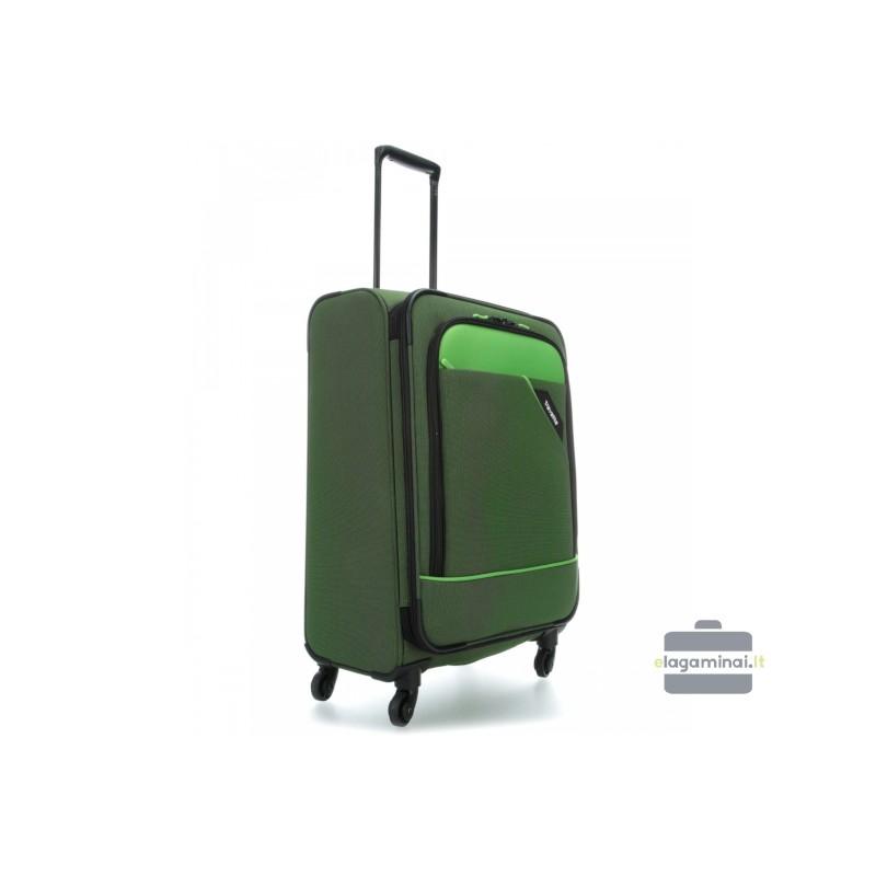 Vidutinis medžiaginis lagaminas Travelite Derby V Žalias