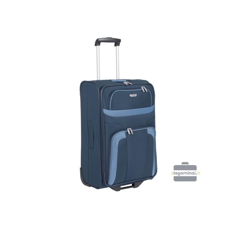 Didelis medžiaginis lagaminas Travelite Orlando D Tamsiai mėlynas