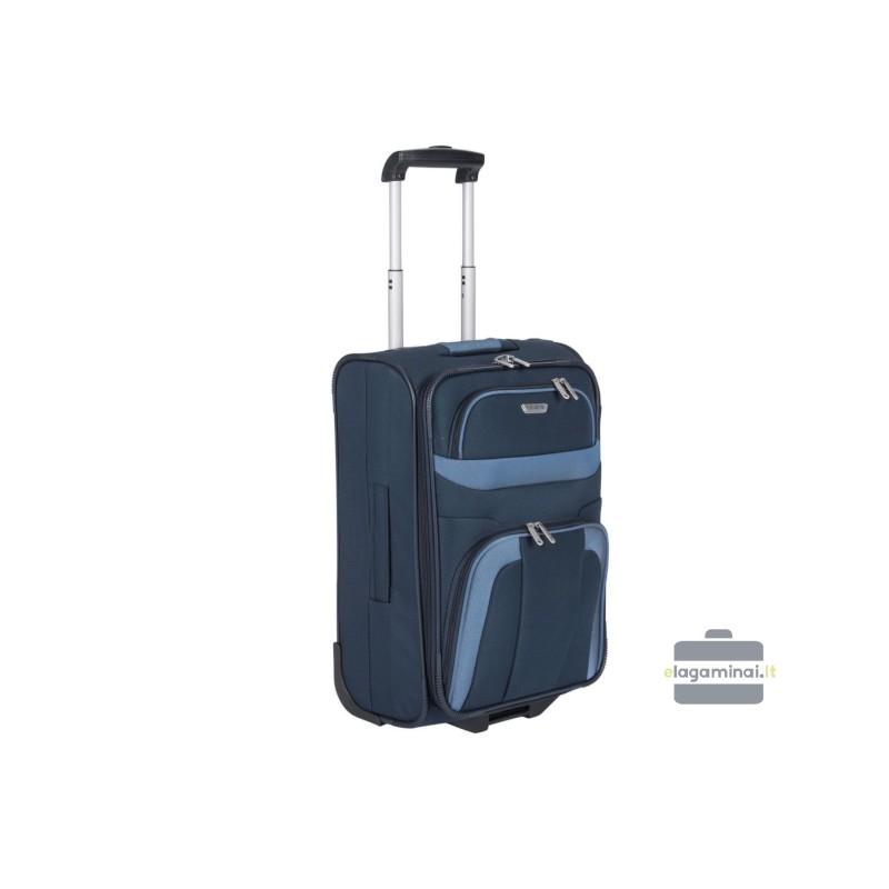 Mažas medžiaginis lagaminas Travelite Orlando M Tamsiai mėlynas