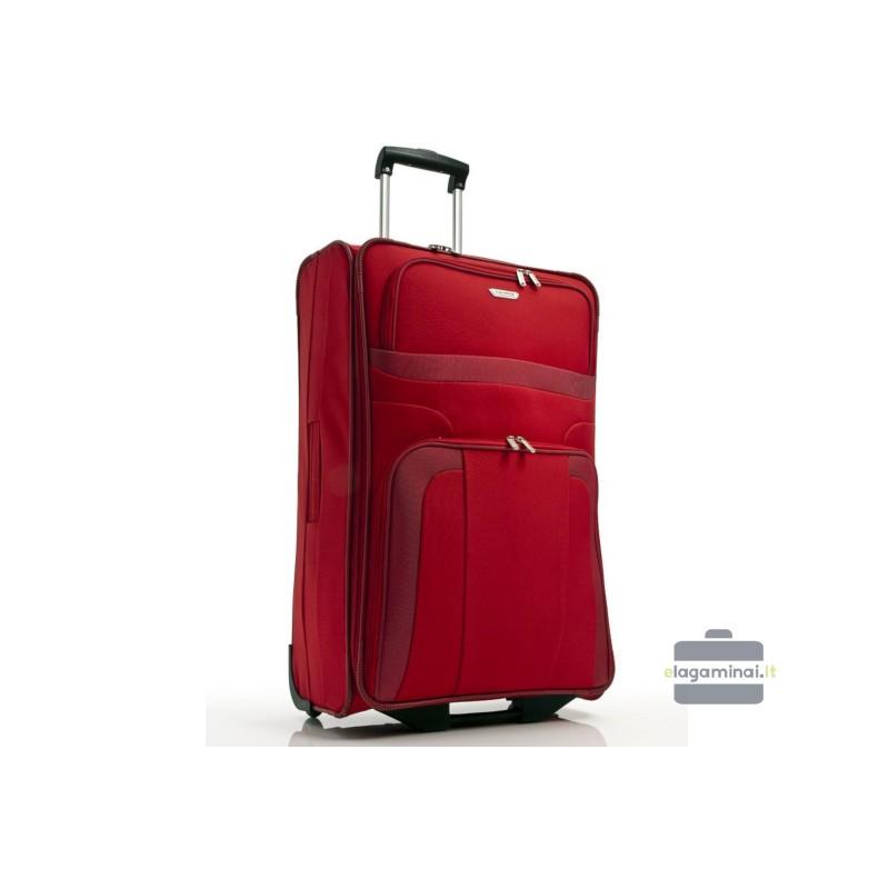Didelis medžiaginis lagaminas Travelite Orlando D Raudonas