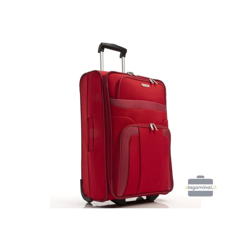 Vidutinis medžiaginis lagaminas Travelite Orlando V Raudonas