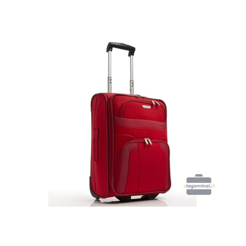 Mažas medžiaginis lagaminas Travelite Orlando M Raudonas