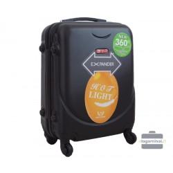 Mažas plastikinis lagaminas Gravitt 310A-M Juodas